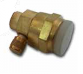Aeroquip female connector with core valve access